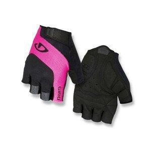 Cyklistické rukavice Giro Tessa Velikost: M / Barva: černá/růžová