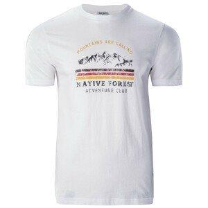 Pánské triko Hi-Tec Eron Velikost: XL / Barva: bílá