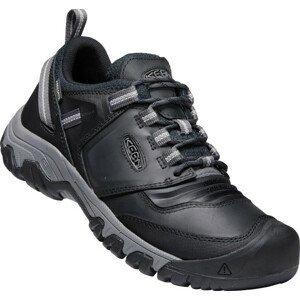 Pánské turistické boty Keen Ridge Flex WP Velikost bot (EU): 45 / Barva: černá/šedá