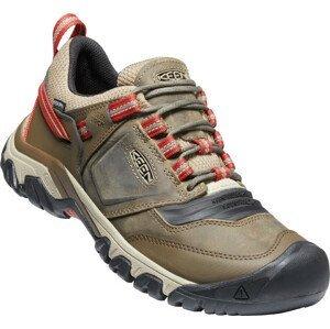 Pánské turistické boty Keen Ridge Flex WP Velikost bot (EU): 41 / Barva: hnědá/oranžová