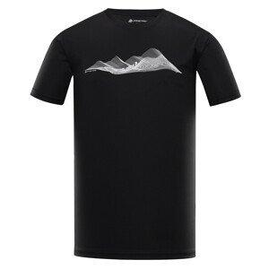 Pánské triko Alpine Pro Quart 2 Velikost: S / Barva: černá