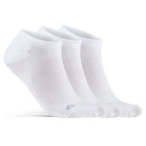 Ponožky Craft Core Dry Footies 3-Pack Velikost ponožek: 43-45 / Barva: bílá