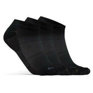 Ponožky Craft Core Dry Footies 3-Pack Velikost ponožek: 37-39 / Barva: černá