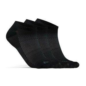 Ponožky Craft Core Dry Footies 3-Pack Velikost ponožek: 40-42 / Barva: černá