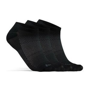 Ponožky Craft Core Dry Footies 3-Pack Velikost ponožek: 43-45 / Barva: černá