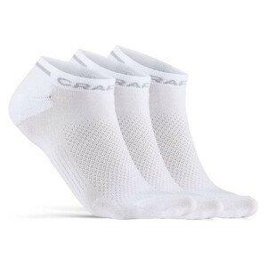 Ponožky Craft Core Dry Shaftless 3-Pack Velikost ponožek: 46-48 / Barva: bílá