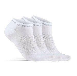 Ponožky Craft Core Dry Shaftless 3-Pack Velikost ponožek: 37-39 / Barva: bílá