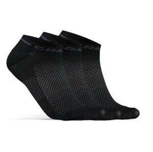 Ponožky Craft Core Dry Shaftless 3-Pack Velikost ponožek: 46-48 / Barva: černá