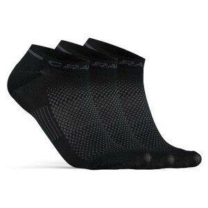 Ponožky Craft Core Dry Shaftless 3-Pack Velikost ponožek: 37-39 / Barva: černá