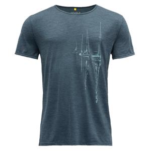 Pánské triko Devold Langfjorden Man Tee Velikost: L / Barva: tmavě modrá
