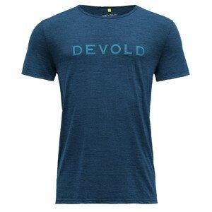 Pánské triko Devold Langevåg Man Tee Velikost: L / Barva: modrá