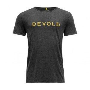 Pánské triko Devold Langevåg Man Tee Velikost: L / Barva: šedá/žlutá