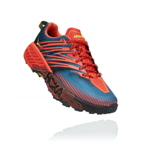 Pánské běžecké boty Hoka One One Speedgoat 4 Velikost bot (EU): 46 / Barva: modrá/oranžová