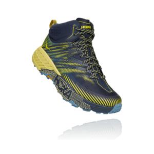 Pánské trailové boty Hoka One One Speedgoat Mid 2 Gtx Velikost bot (EU): 46 / Barva: modrá/žlutá