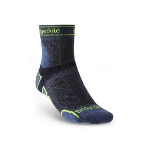 Pánské ponožky Bridgedale Trail Run LW T2 MS 3/4 Crew Velikost ponožek: 44-47 / Barva: modrá
