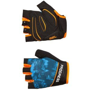 Cyklistické rukavice Progress R RIPPER MITTS 37CB Velikost: M / Barva: černá/modrá