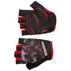 Cyklistické rukavice Progress R RIPPER MITTS 37CB Velikost: M / Barva: černá/červená
