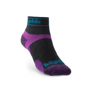 Ponožky Bridgedale Trail Run UL T2 MS Low Velikost ponožek: 41-43 / Barva: černá/fialová