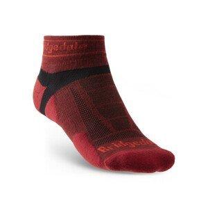 Ponožky Bridgedale Trail Run UL T2 MS Low Velikost ponožek: 44-47 / Barva: červená