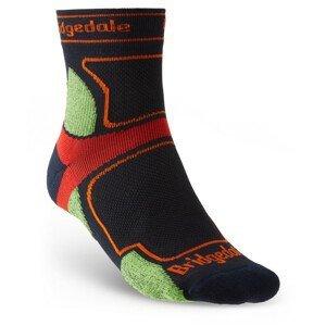 Pánské ponožky Bridgedale Trail Run UL T2 CS 3/4 Crew Velikost ponožek: 40-43 / Barva: černá/zelená