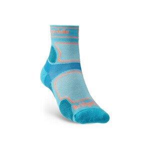 Dámské ponožky Bridgedale Trail Run UL T2 CS 3/4 Crew Velikost ponožek: 38-40 / Barva: modrá