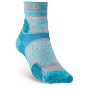 Dámské ponožky Bridgedale UL T2 CS 3/4 Crew Women's Velikost ponožek: 38-40 / Barva: světle modrá