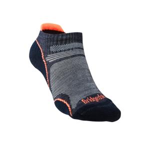 Dámské ponožky Bridgedale Hike UL T2 MP Low Velikost ponožek: 41-43 / Barva: šedá/oranžová