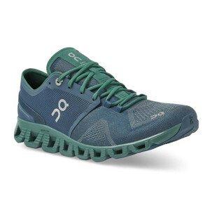 Pánské běžecké boty On Cloud X Velikost bot (EU): 44 / Barva: modrá/zelená