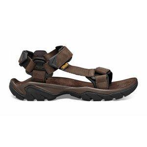 Pánské sandály Teva Terra Fi 5 Leather Velikost bot (EU): 44,5 / Barva: hnědá