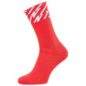 Ponožky Silvini Oglio Velikost ponožek: 42-44 / Barva: červená/bílá