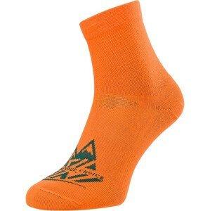 Ponožky Silvini Enduro Orino Velikost ponožek: 42-44 / Barva: oranžová
