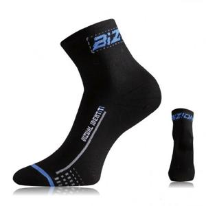 Cyklo ponožky Lasting BS30 Velikost ponožek: 42-45 / Barva: černá/modrá