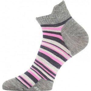 Ponožky Lasting WWS Velikost ponožek: 34-37 / Barva: šedá/růžová