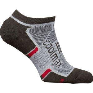 Ponožky High Point Active 2.0 Invisible Socks Velikost ponožek: 35-38 / Barva: černá/červená