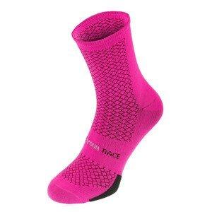 Cyklistické ponožky R2 Endurance Velikost ponožek: 39-42 / Barva: růžová