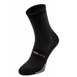 Cyklistické ponožky R2 Endurance Velikost ponožek: 43-46 / Barva: černá