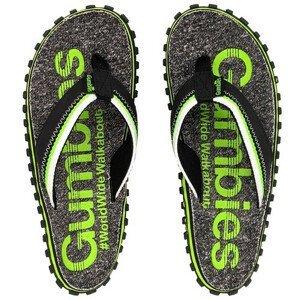 Žabky Gumbies Cairns Lime Velikost bot (EU): 43 / Barva: šedá/zelená