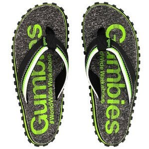Žabky Gumbies Cairns Lime Velikost bot (EU): 48 / Barva: šedá/zelená