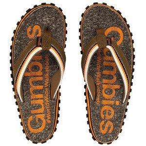 Žabky Gumbies Cairns Orange Velikost bot (EU): 41 / Barva: oranžová/šedá