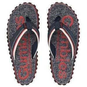 Žabky Gumbies Cairns Red Velikost bot (EU): 42 / Barva: červená/tm.šedá