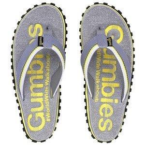 Žabky Gumbies Cairns yellow Velikost bot (EU): 38 / Barva: šedá/žlutá