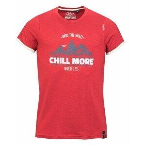 Pánské triko Chillaz Retro Worry Less Velikost: M / Barva: červená
