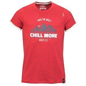 Pánské triko Chillaz Retro Worry Less Velikost: XXL / Barva: červená