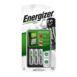 Nabíječka Energizer Maxi + 4AA Power Plus 2000 mAh Barva: černá/stříbrná