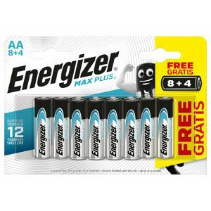 Baterie Energizer Max Plus AA/12 8+4 zdarma Barva: stříbrná