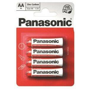 Baterie Panasonic Zinc AA/4 Barva: bílá/červená