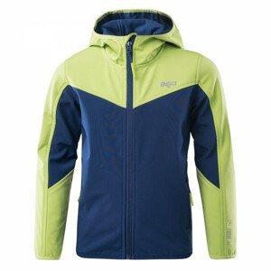 Dětská softshellová bunda Bejo Lanny II Kdb Velikost: 122 / Barva: modrá/zelená
