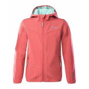 Dětská softshellová bunda Bejo Lola II Kdg Velikost: 122 / Barva: růžová