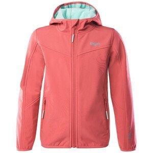 Dětská softshellová bunda Bejo Lola II Kdg Velikost: 128 / Barva: růžová