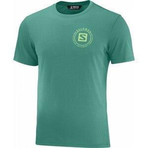 Pánské triko Salomon Outrack Blend Velikost: L / Barva: modrá